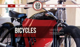 Phantom Bikes: Vintage Web Design at a New Level